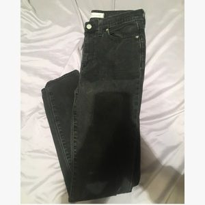 Madewell Jeans Faded Black High Rise